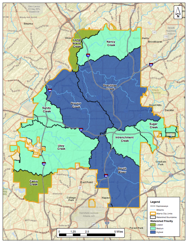 Atlantawatershed Org Watersheds Map