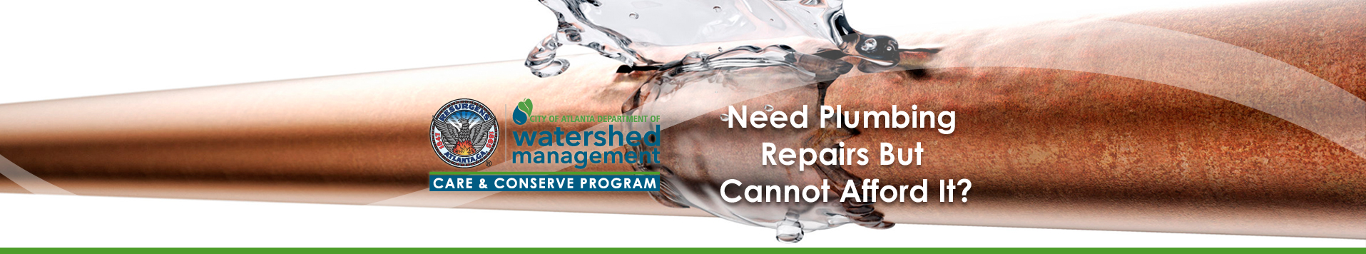 Need Plumbing Repairs But Cannot Afford It? - Care and Conserve Program